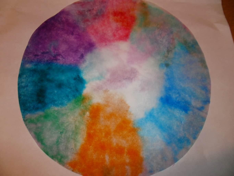 May day tie dye flower craft for kids for Tye dye flowers