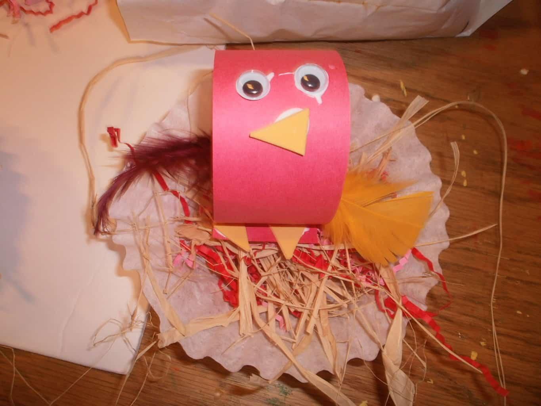 Baby bird in nest craft for kids for Baby bird nest craft
