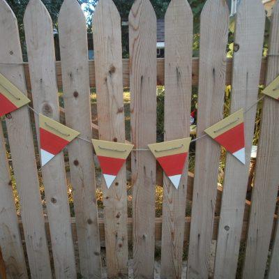 Fall Garland: Easy DIY Candy Corn Garland