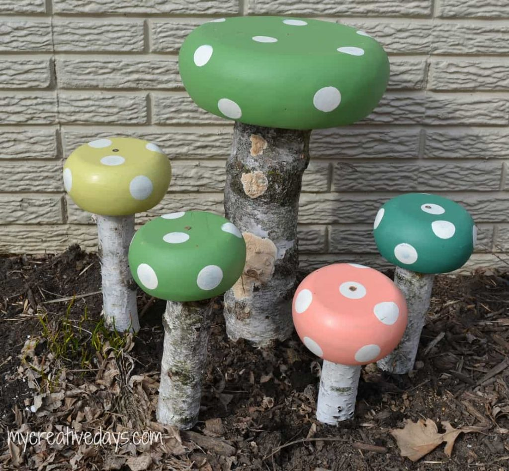 DIY Toadstools For The Garden