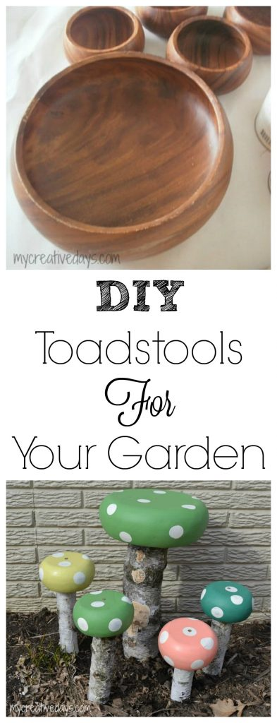 If you love to garden or have your yard landscaped and fun, you will love these easy DIY Toadstools For The Garden.