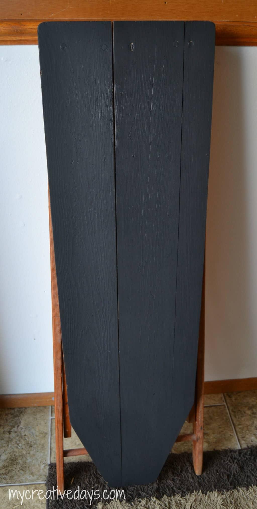 Repurposed Iron Board To Chalkboard mycreativedays.com