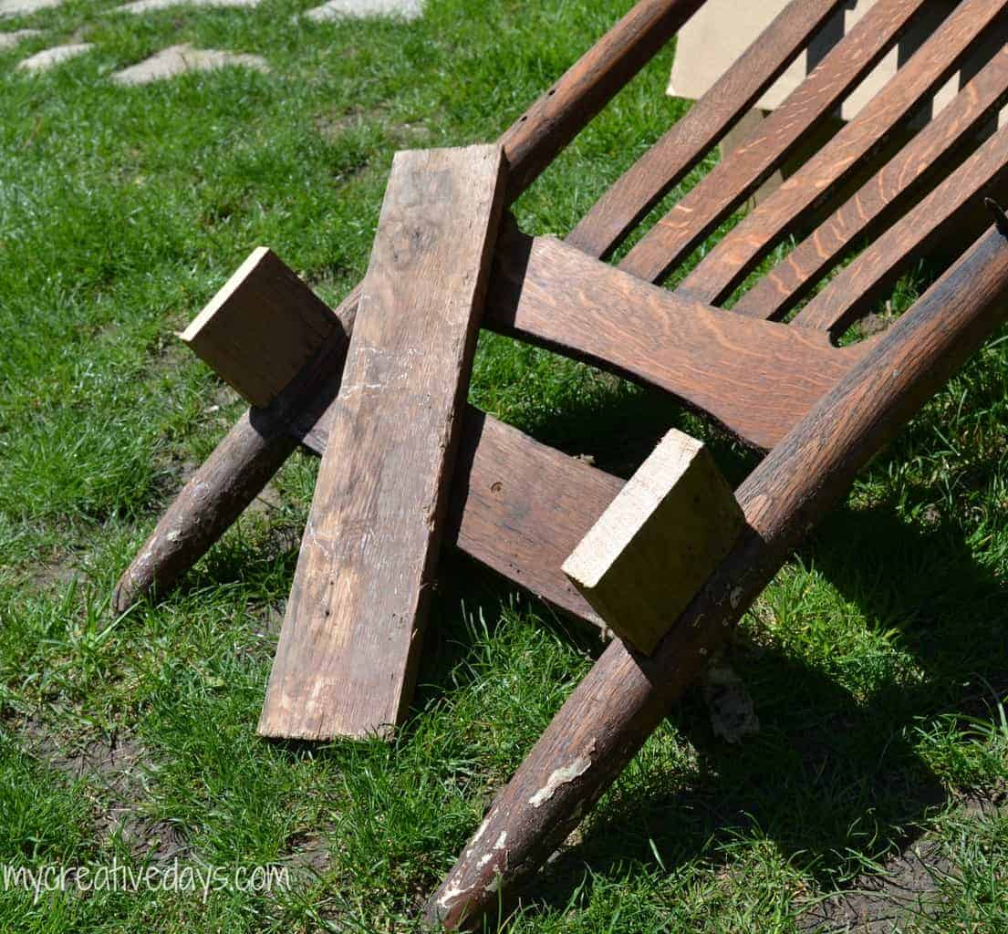 Pin This Turn A Broken Rocking Chair Into Planter With Simple DIY Upcycle Tutorial