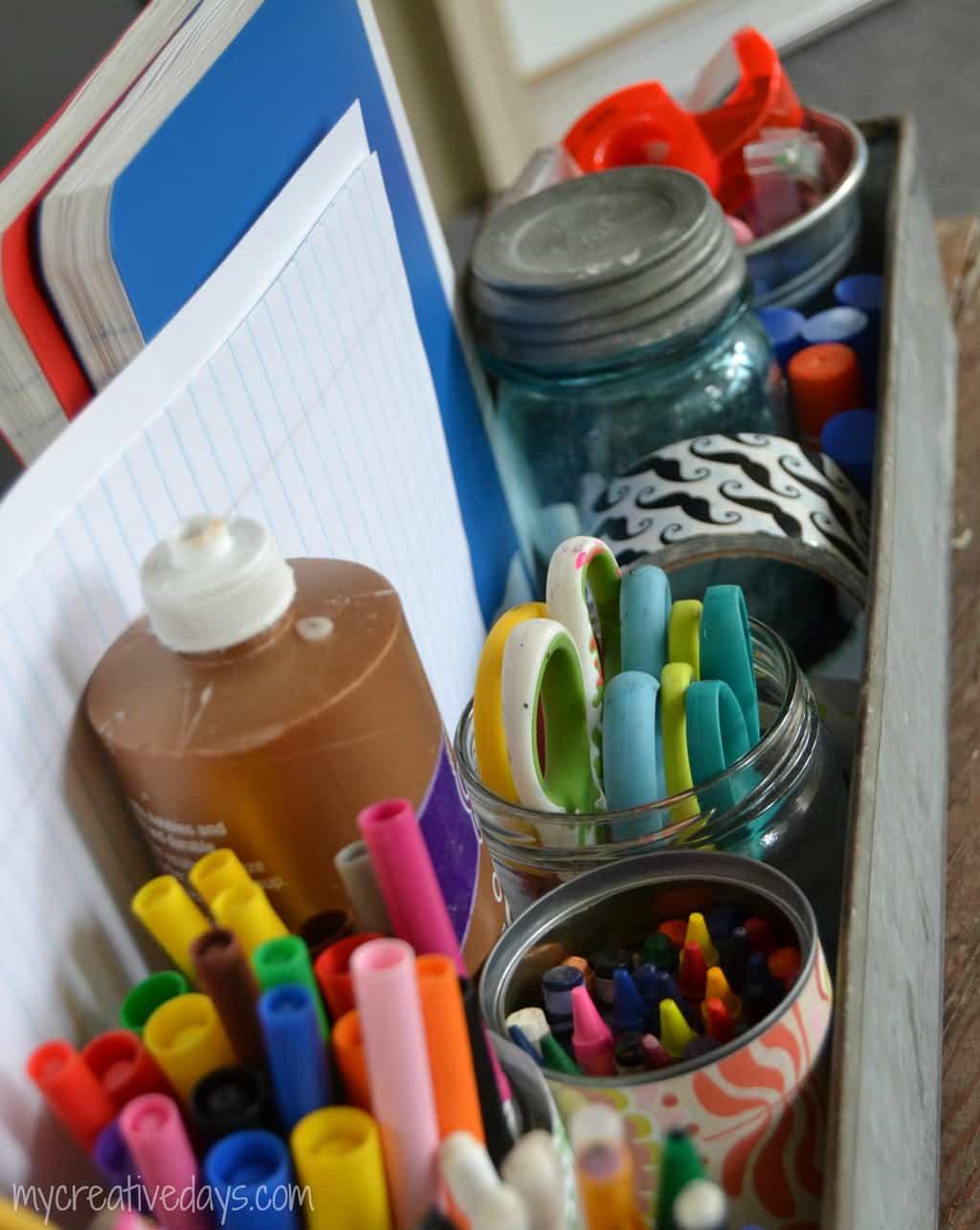 Back To School Homework Station mycreativedays.com