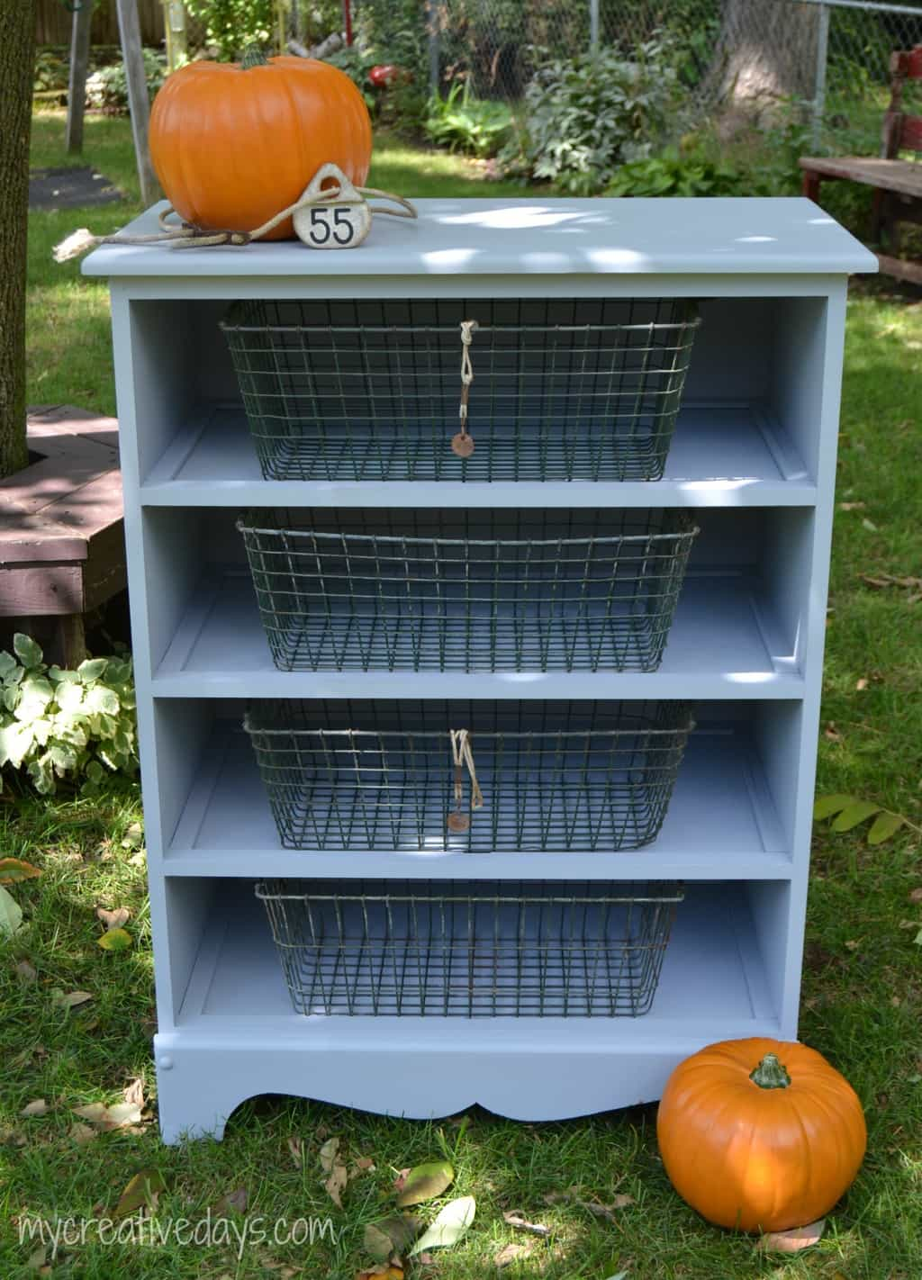Dresser Turned Bookshelf mycreativedays.com