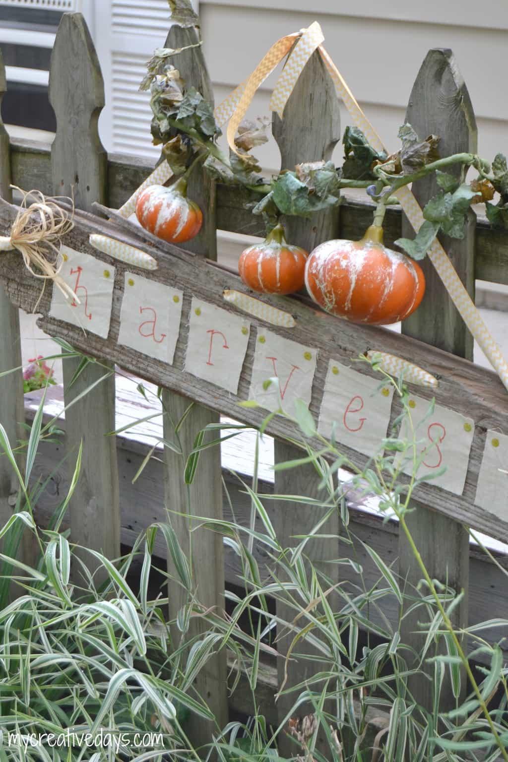 DIY Harvest Sign mycreativedays.com