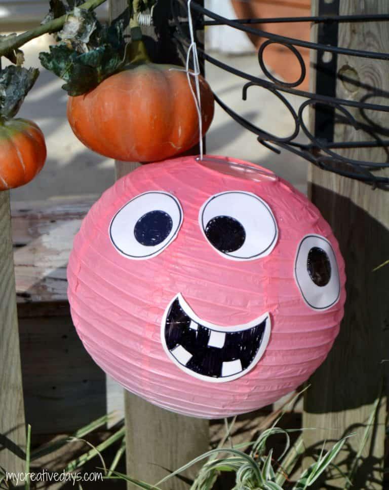 DIY Halloween Decorations Simple Paper Lantern Monsters