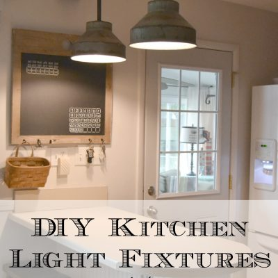 DIY Kitchen Light Fixtures {Part 2}