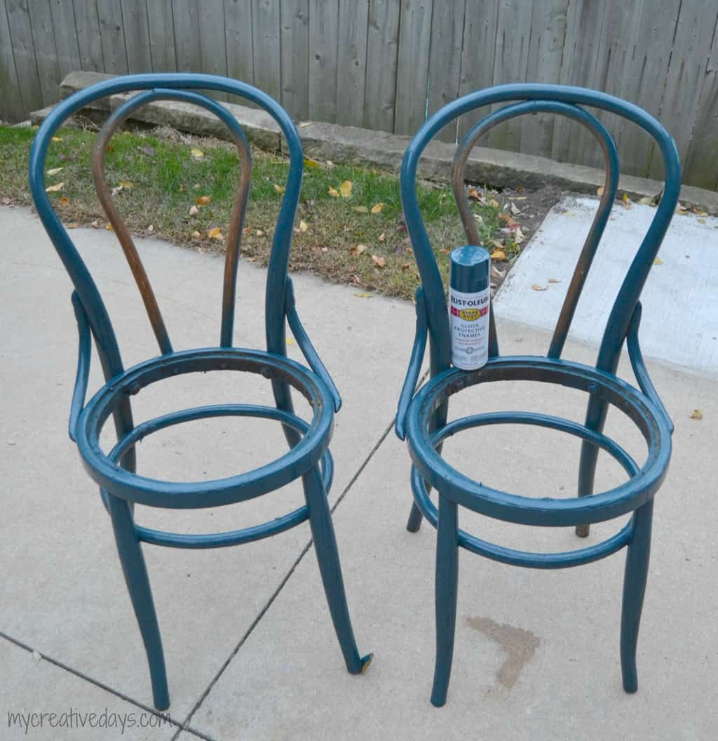 Chair Makeover With Copper and Leather mycreativedays.com