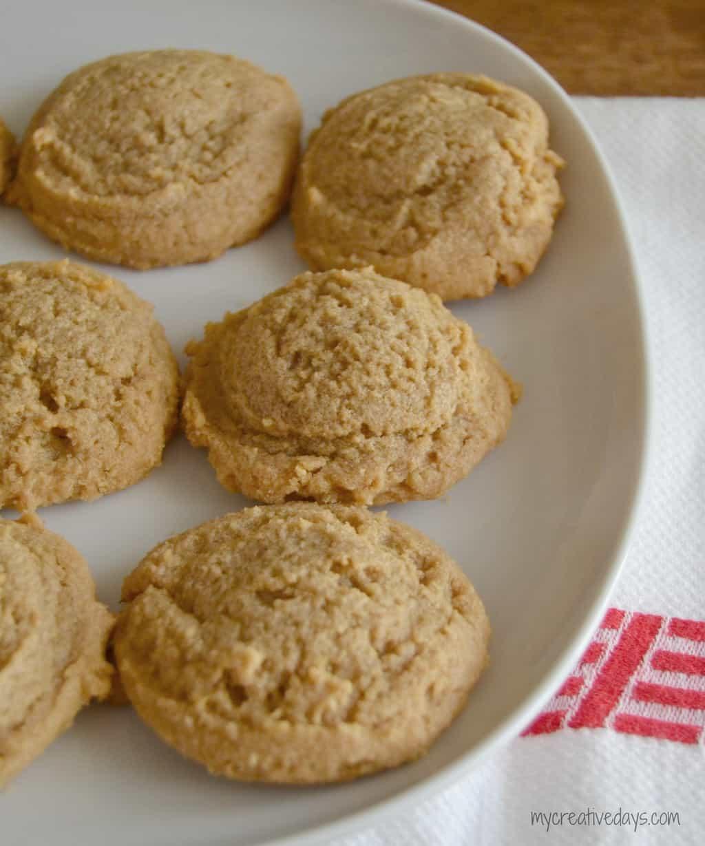 3 Ingredient Peanut Butter Cookies mycreativedays.com