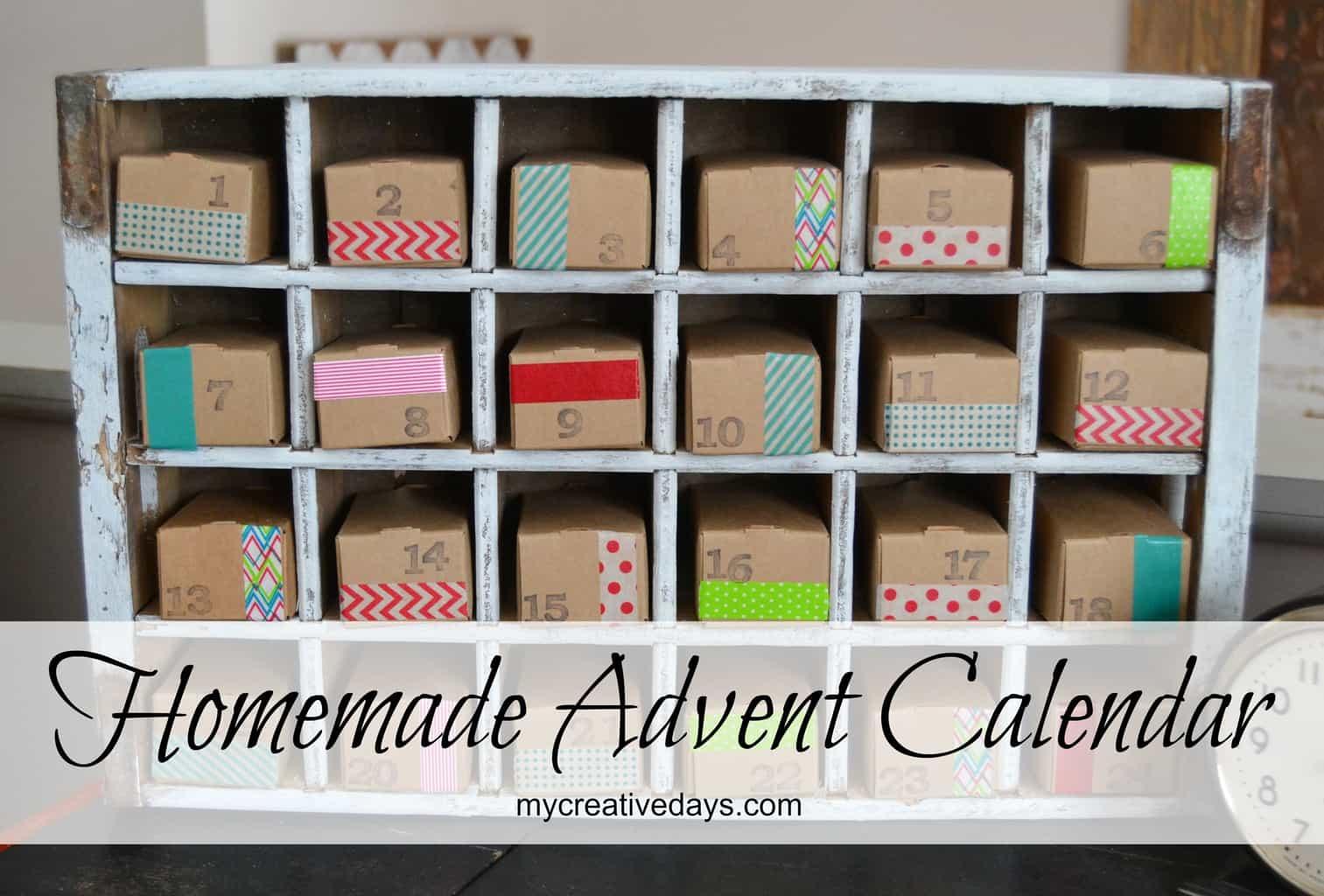 Homemade Calendars : Homemade advent calendar mycreativedays