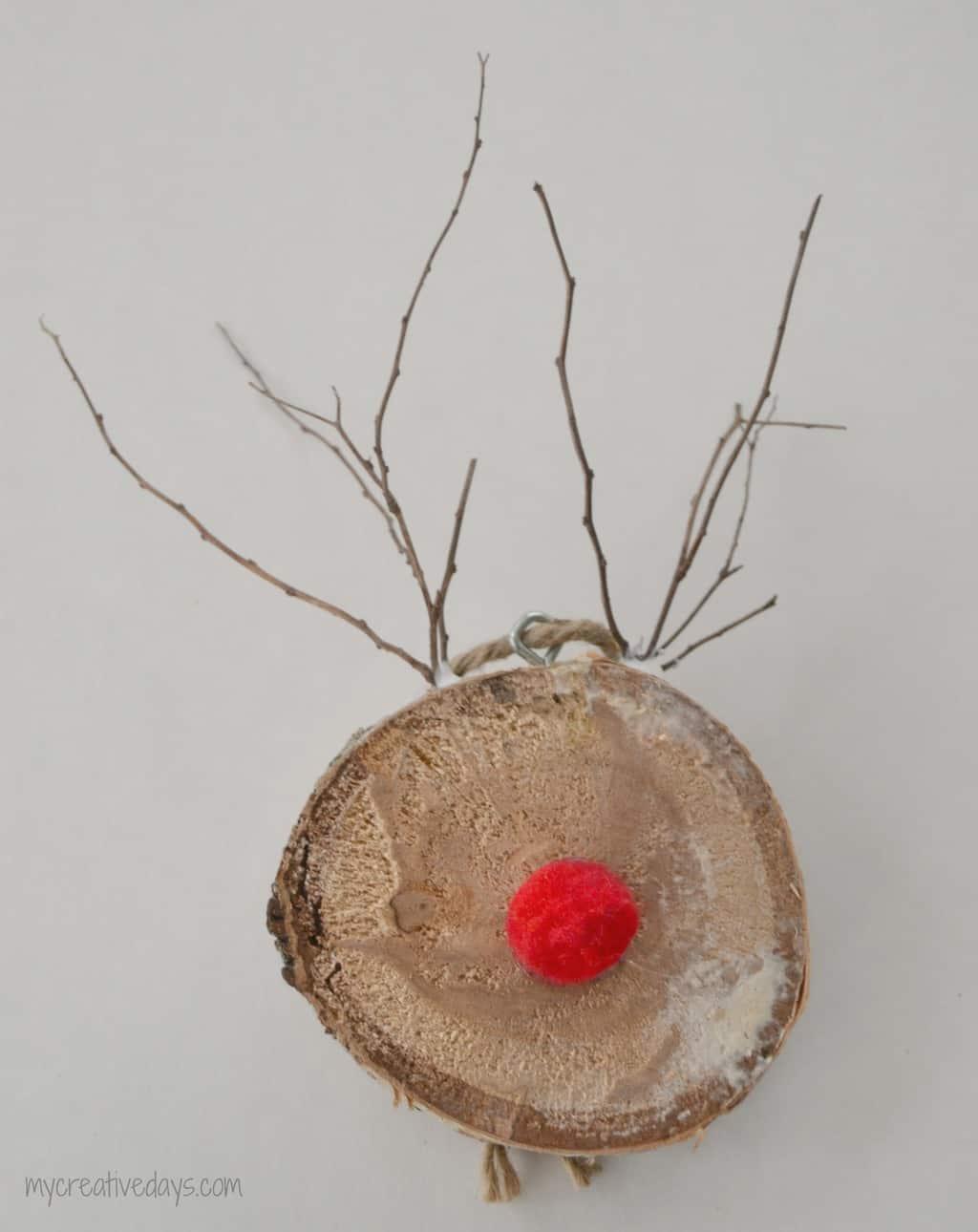 Birch Reindeer Ornaments mycreativedays.com
