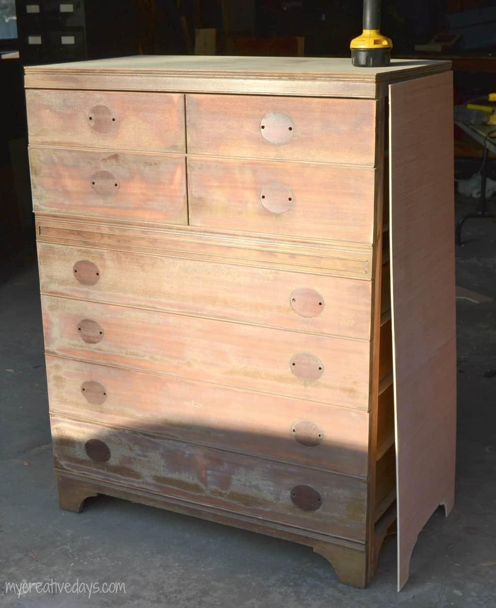 White Rustic Dresser Makeover mycreativedays.com