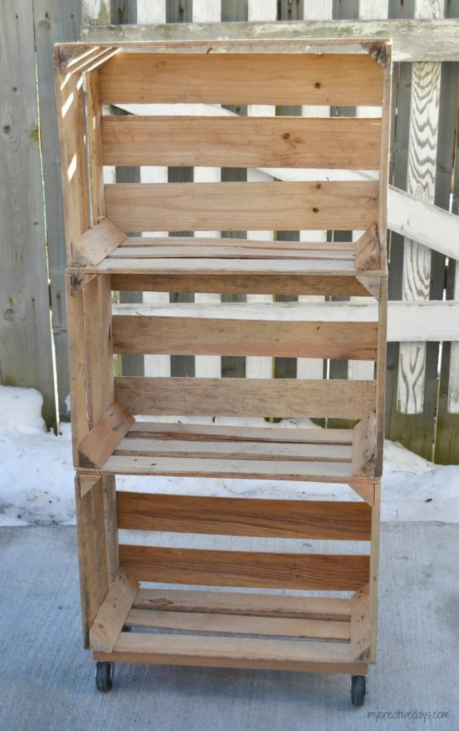 If you want to find any easy solution to getting organized, this DIY Wood Storage Crate can store all kinds of things.
