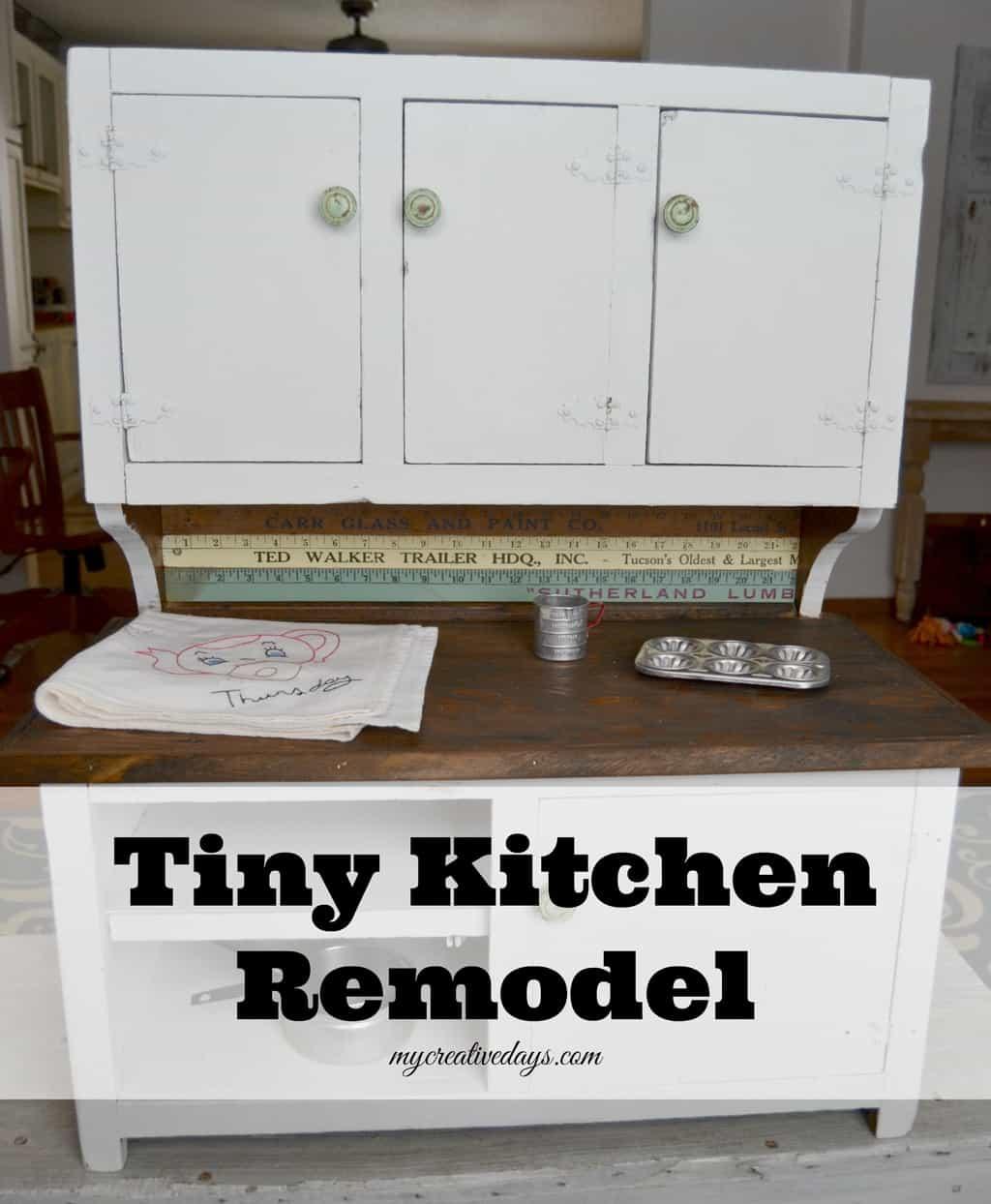 Tiny Kitchen Remodel mycreativedays.com