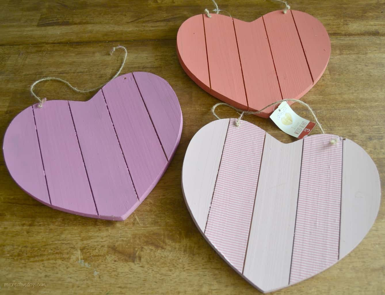 $3 Target Wood Heart Makeover mycreativedays.com