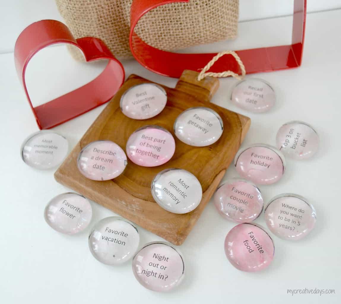 Valentine Conversation Stones mycreativedays.com