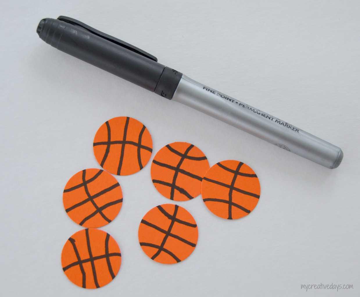 Basketball Valentines mycreativedays.com