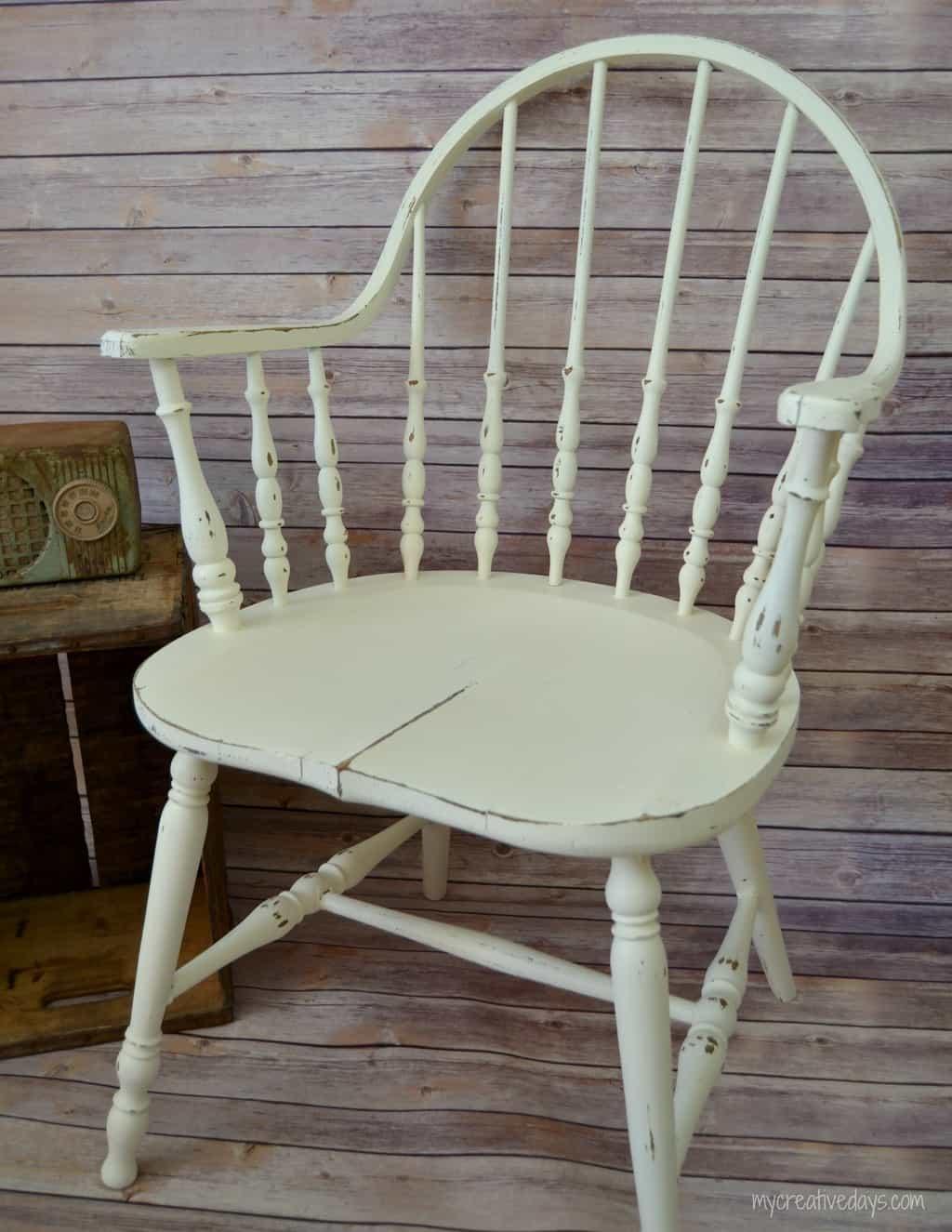 Chair Makeover With Velvet Finishes mycreativedays.com