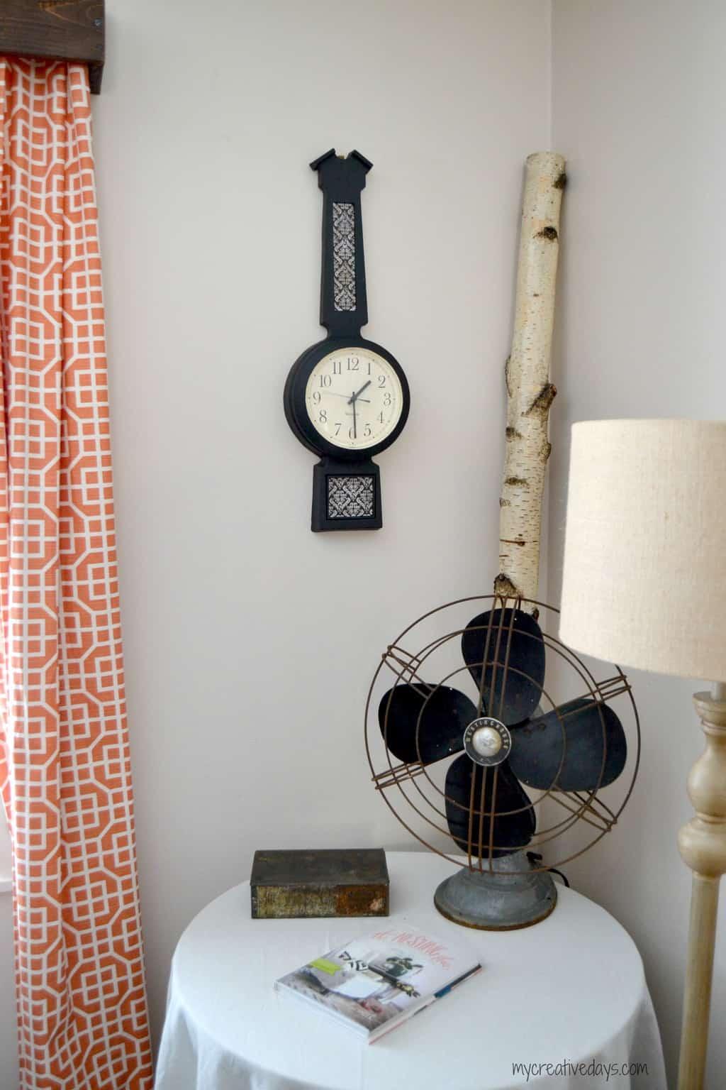Thrift Store Clock Makeover mycreativedays.com
