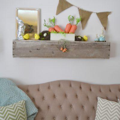 Easter Mantel With DIY Burlap Banner {Make It Challenge}