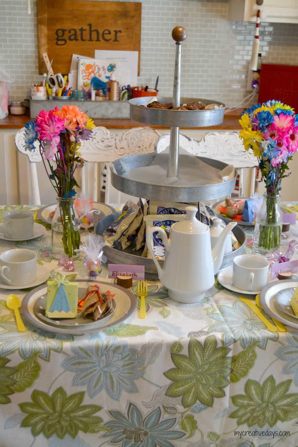 Tea Party Birthday Party mycreativedays.com