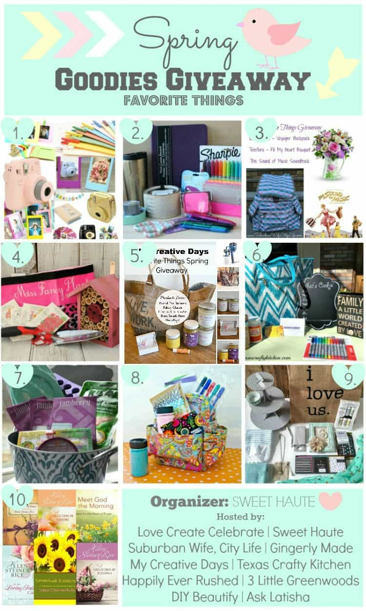 Goodies Giveaway Spring Fav Things-mycreativedays.com