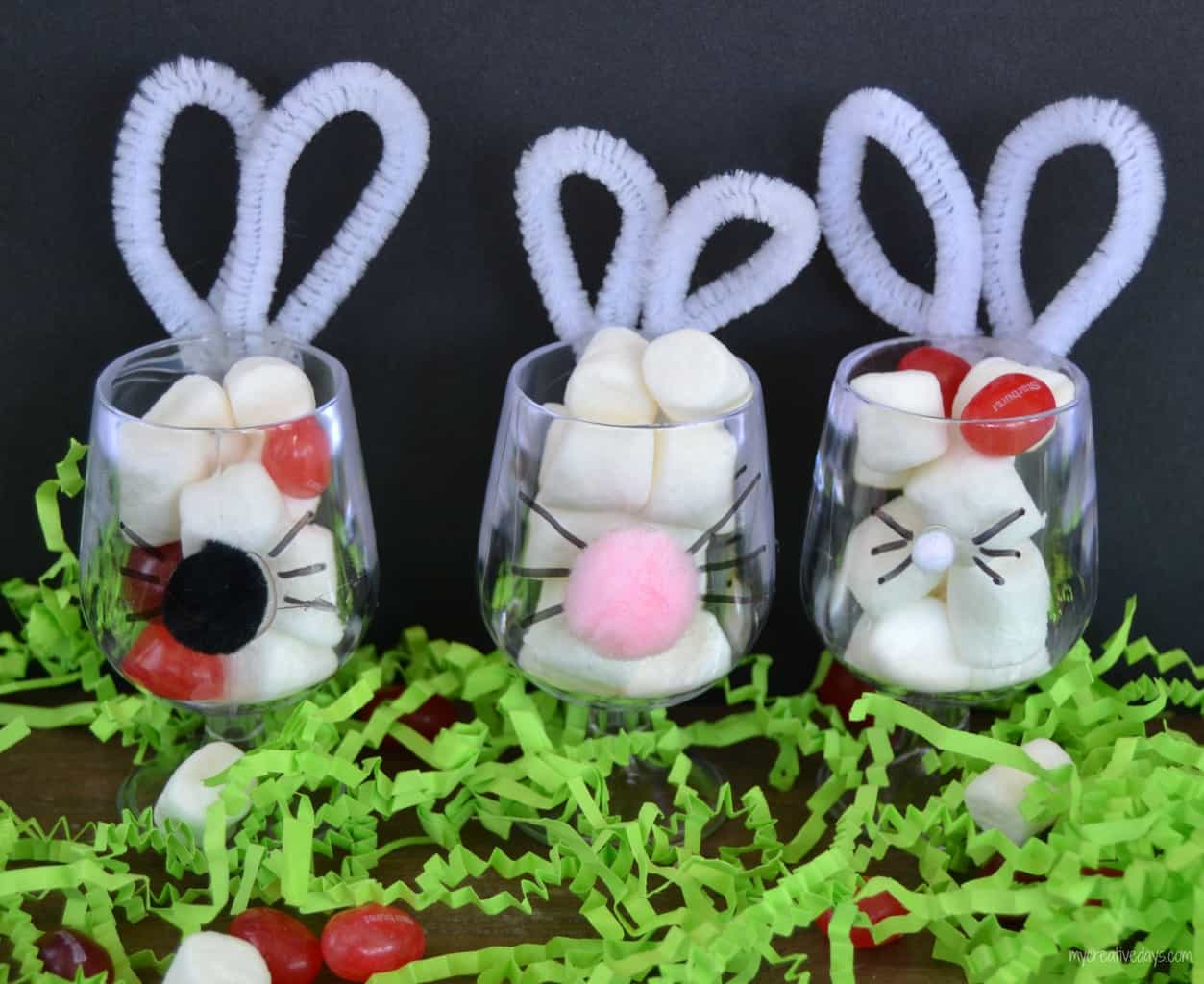 Bunny favors for easter my creative days for What day does easter fall on this year