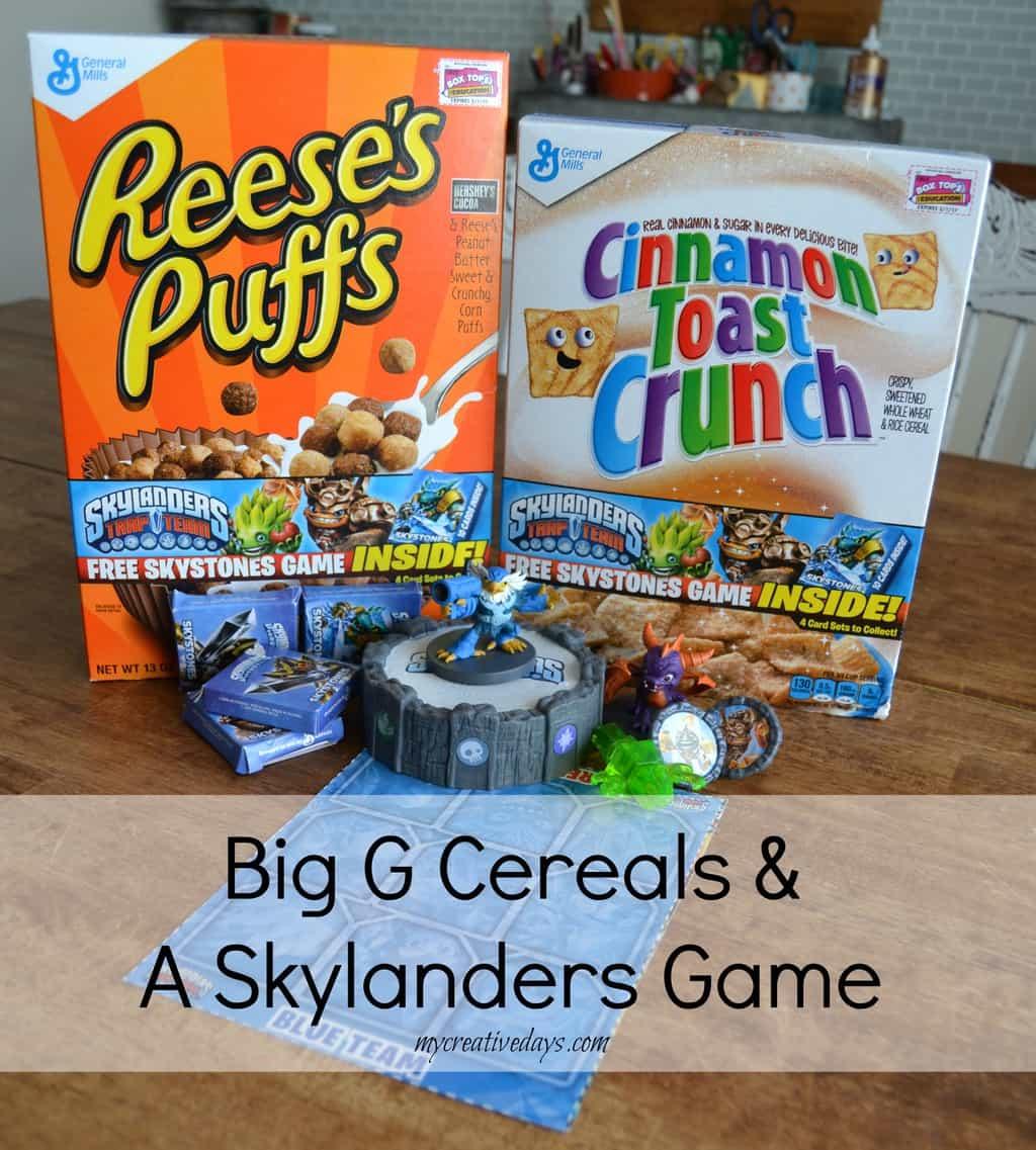 Big G Cereals & A Skylander Game mycreativedays.com