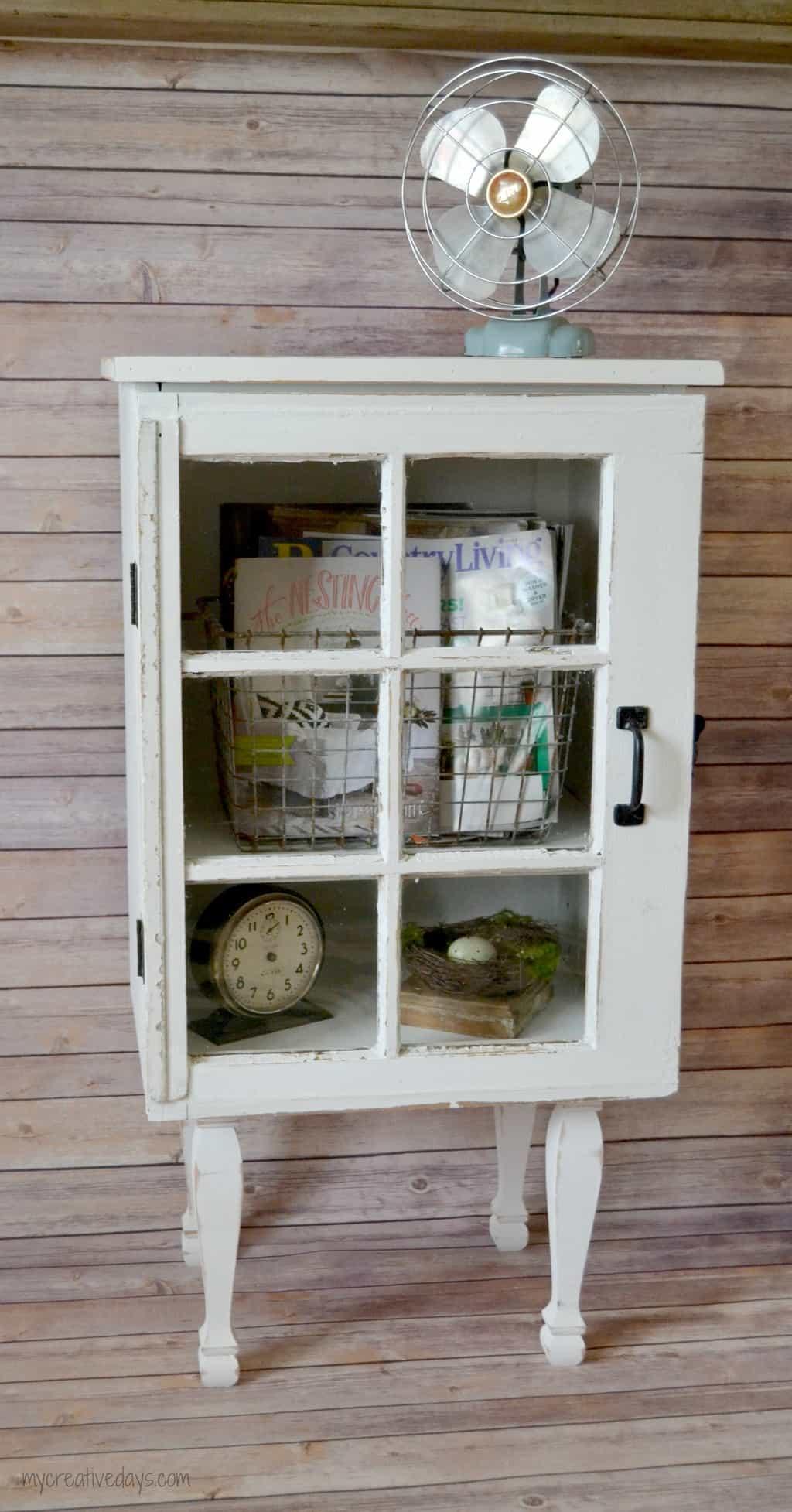 Target Inspired Old Window Cabinet mycreativedays.com