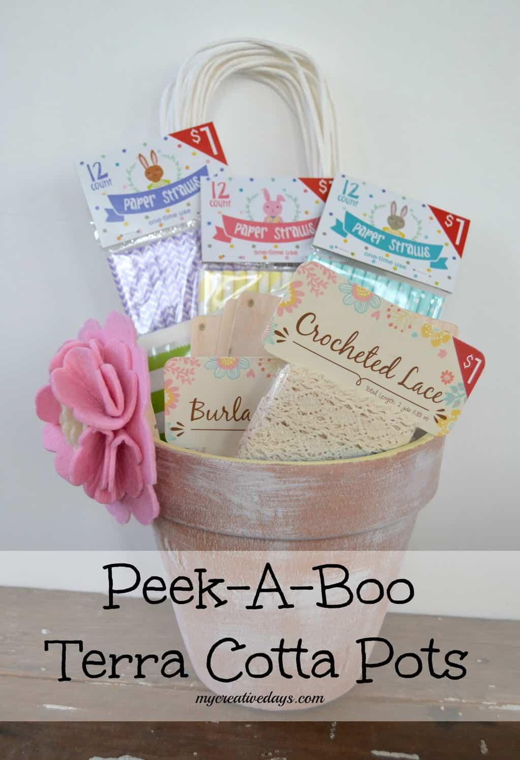 Peek-A-Boo Terra Cotta Pots {Make It Challenge} mycreativedays.com