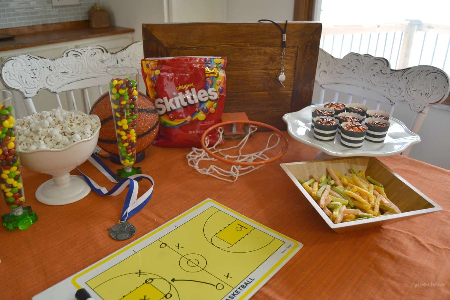 Basketball Party With Skittles mycreativedays.com
