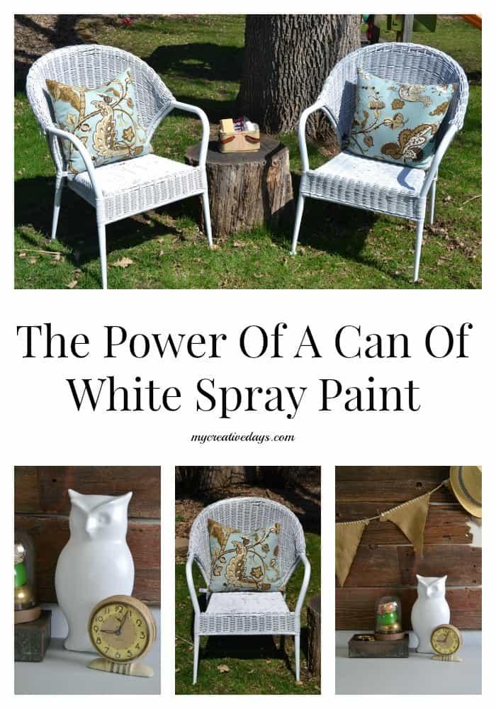 The Power Of A Can Of White Spray Paint mycreativedays.com