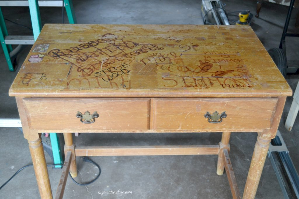 Do you have an old desk that you don't love anymore? This DIY desk makeover shows you how to take a not-so-pretty desk and make it into something beautiful and functional for your space.