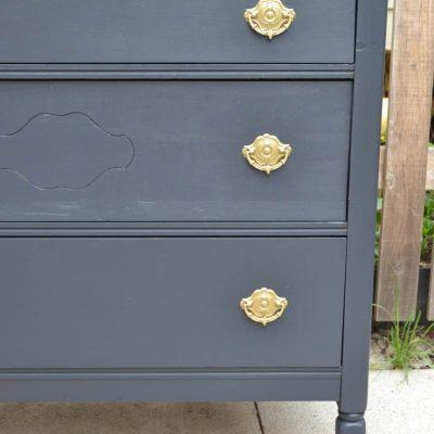 Charcoal DIY Dresser Makeover