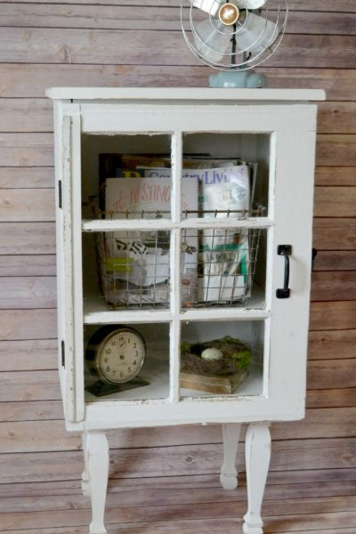 Do you love old windows and have a few on hand? Make a DIY Window Cabinet to make them functional and highlight them in a new way!