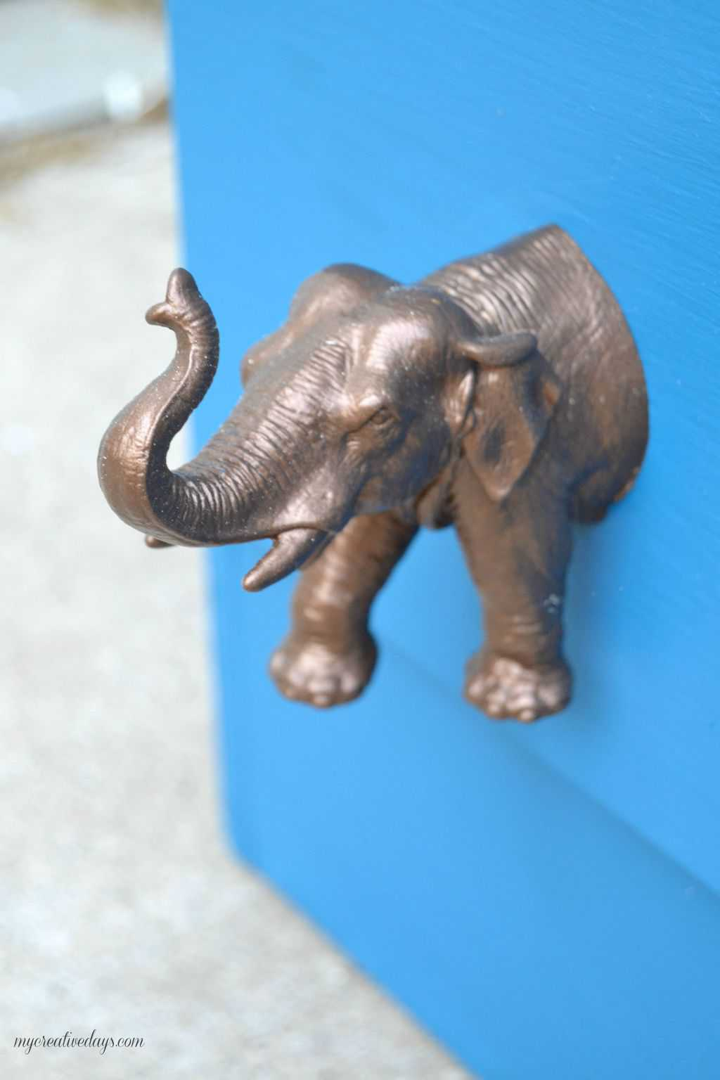Diy Elephant Knobs Themed Furniture Makeover Day Animal