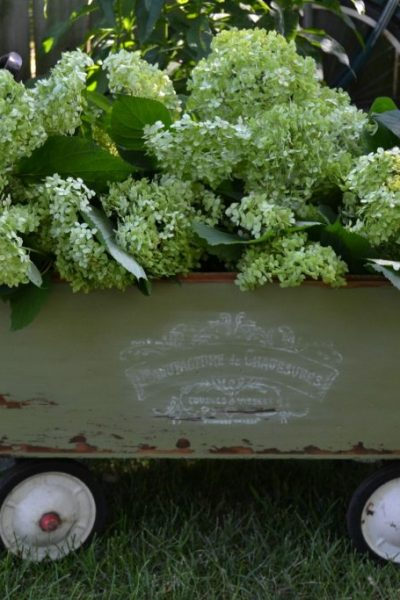 Wagons come in all shapes and sizes and this DIY wagon tutorial will show you how to turn your basic wagon into a beautiful piece for your garden or porch!