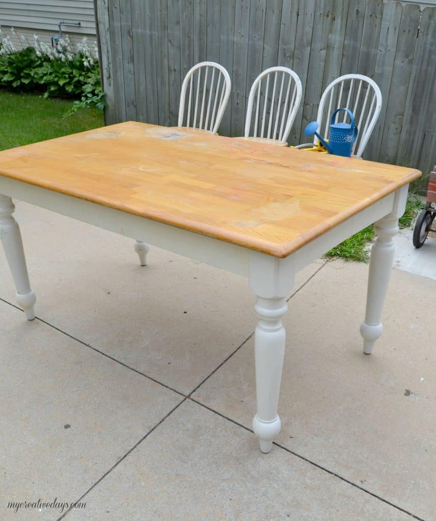 Yard Sale Find Turns Into A Beautiful Farmhouse Kitchen Table And Chairs