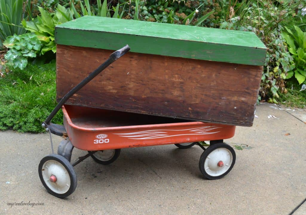 DIY Wagon Made From A Wood Box - My