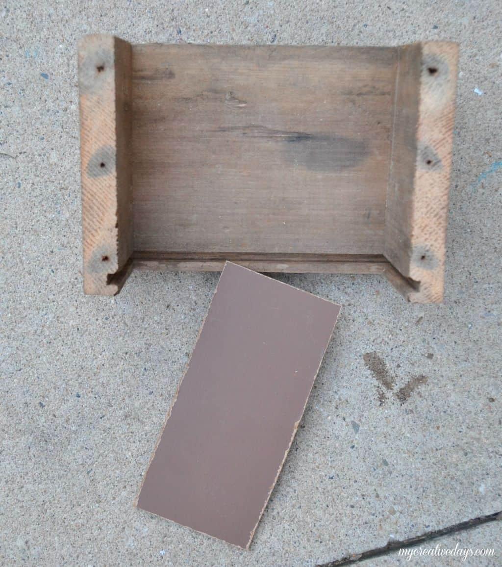 DIY Barn Wood Wall Bin MyCreativeDays