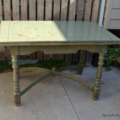 Chippy Green Farmhouse Table