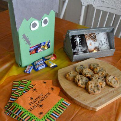 DIY Frankenstein Halloween Candy Dispenser