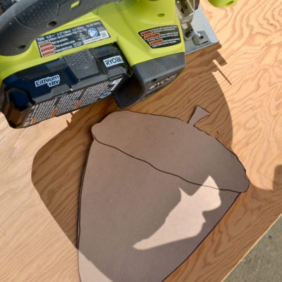 DIY Driftwood Acorns