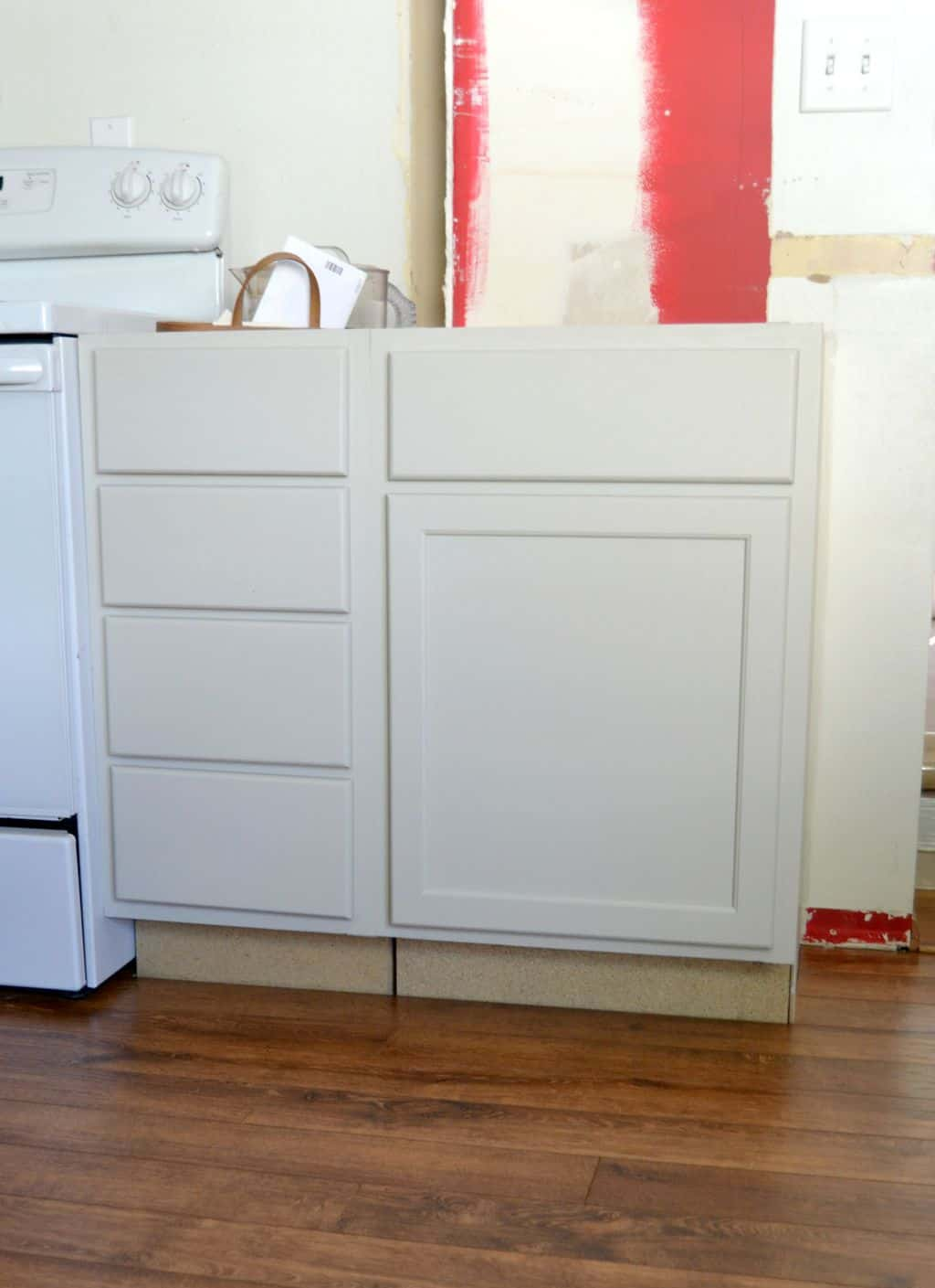 Add Drawers To Kitchen Cabinets Kitchen Makeover 2015 Remove Half Wall Extend Beam Add