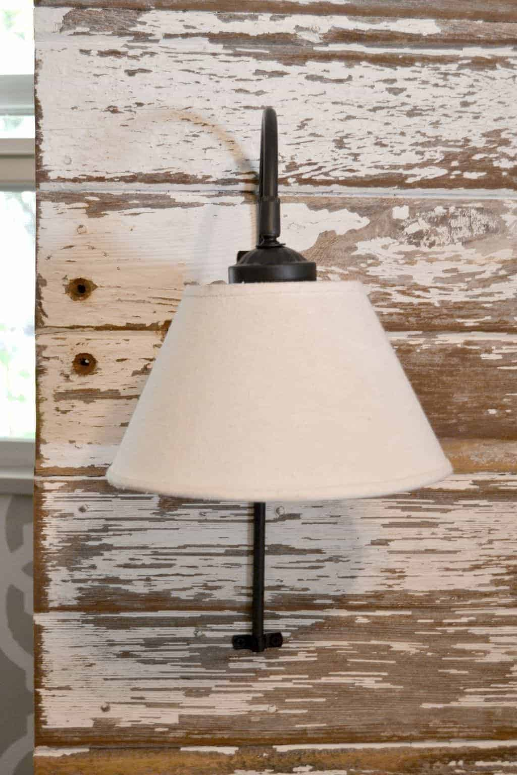 Repurposed lamps become diy plug in wall sconce for headboard pin this if you would like to free up some space on your night stands click over arubaitofo Gallery