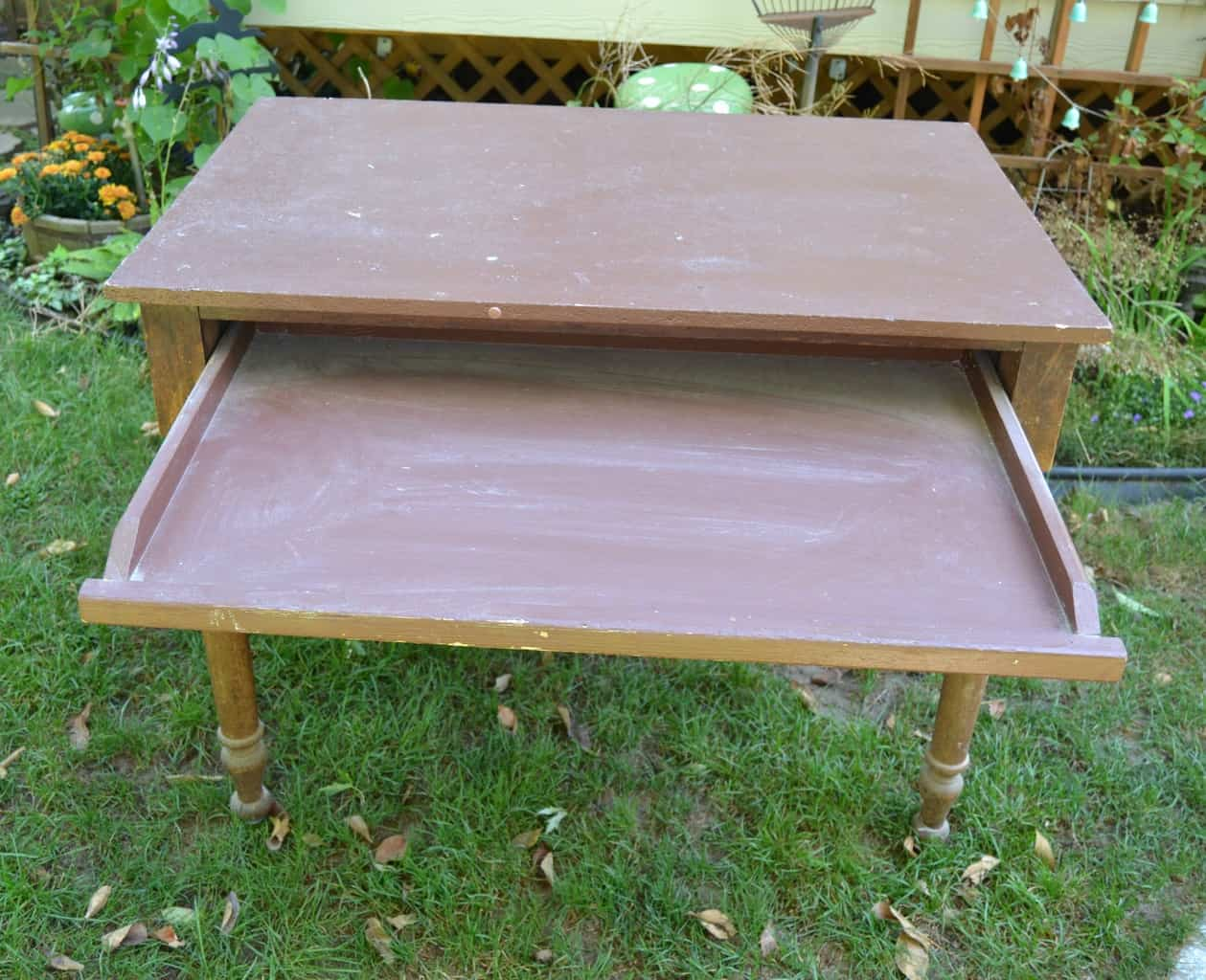 Roll Over Particle Board Desk ~ Desk makeover with a map my creative days