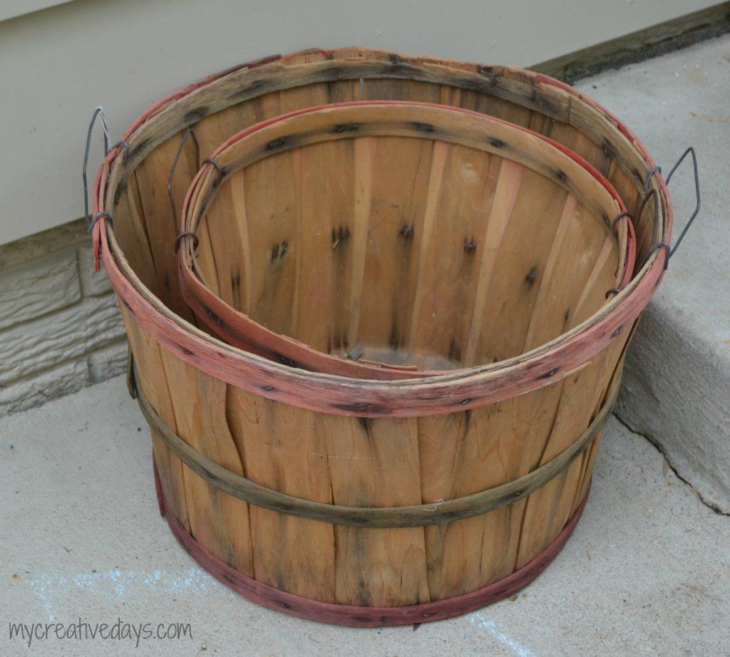 Fall Bushel Basket Tier