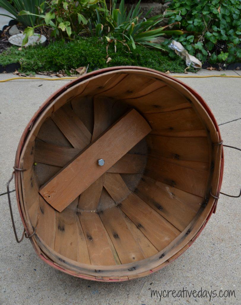 Repurposed Fall Bushel Basket