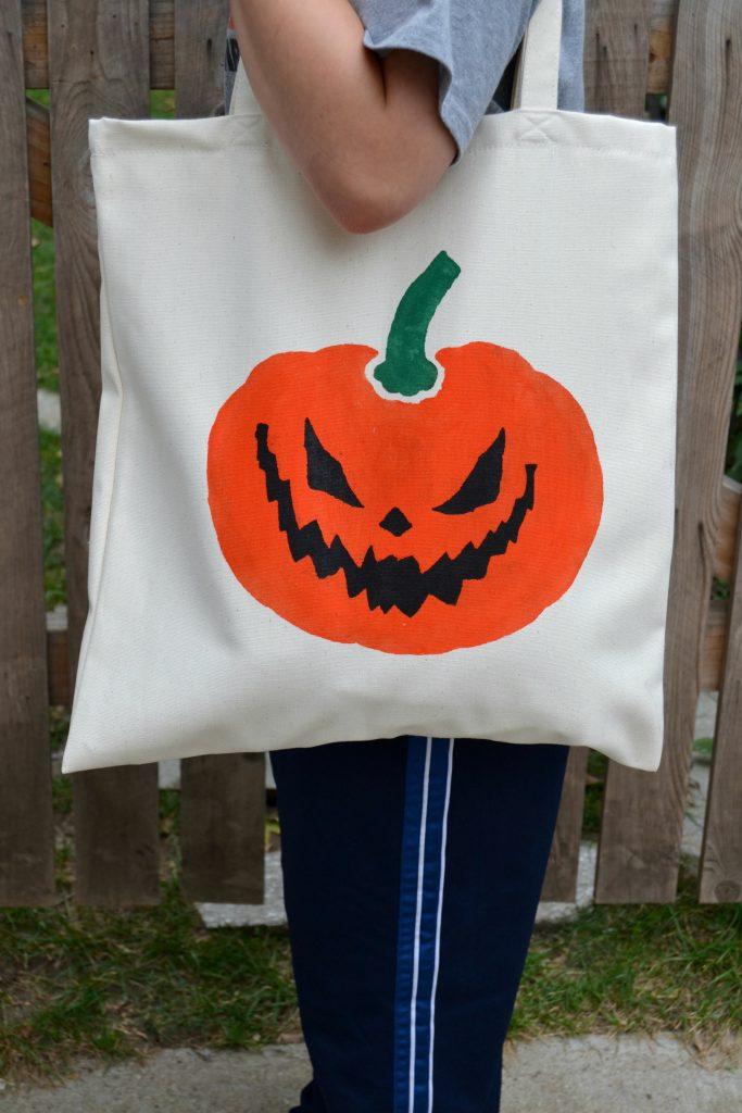 Painted Halloween Bags5